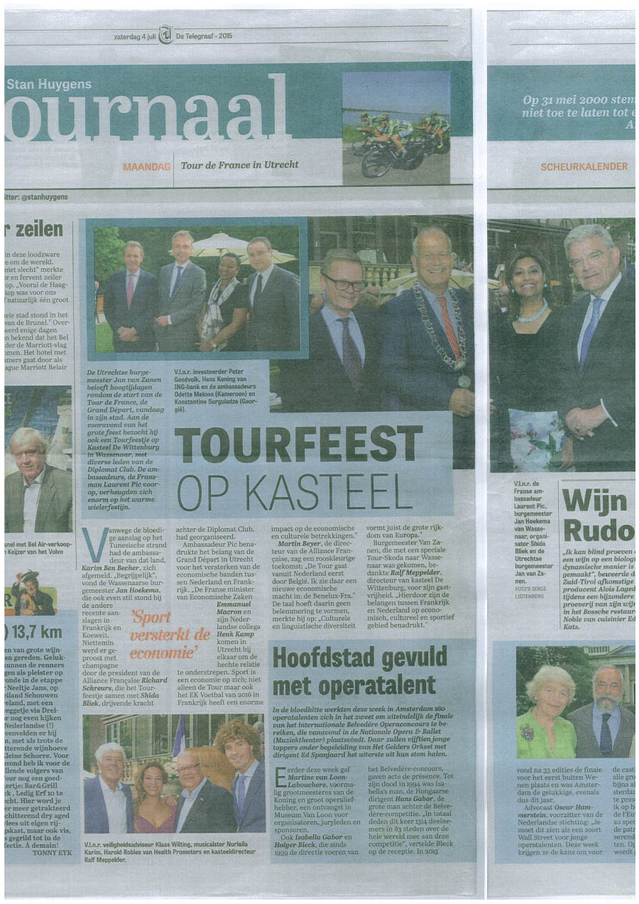 Telegraaf Tour de France Diplomat Club Wassenaar