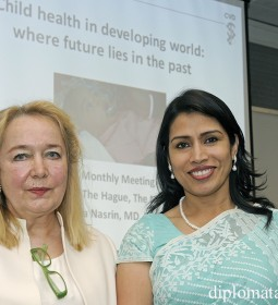 Barbara Couwenberg, President of The International Womens's Club & Dr. Dilruba Nasrin