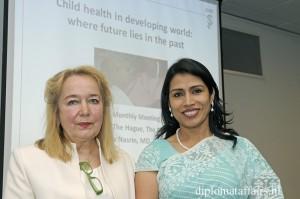 Barbara Couwenbergh, President of The International Womens's Club & Dr. Dilruba Nasrin