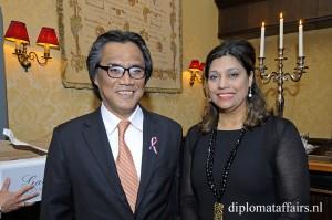 H.E. Mr Ittiporn Boonpracong, Mrs Shida Bliek