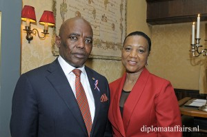H.E. Mr Vusi Bruce Koloane, Mrs Ntokoza