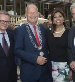 H.E. Mr. Laurent Pic, Mayor Mr. Jan Hoekema of Wassenaar, Ms. Shida Bliek, Mayor Mr. Jan van Zanen of Utrecht.
