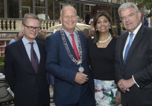 H.E. Mr. Laurent Pic, Mayor Jan Hoekema of Wassenaar, Shida Bliek, Mayor Jan van Zanen of Utrecht.