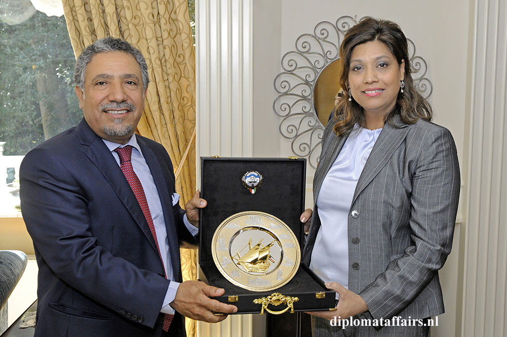 6. HE Mr. Hafeez Mohammed Salem Al-Ajmi and Mrs. Shida Bliek President Diplomat Club Wassenaar the Netherlands