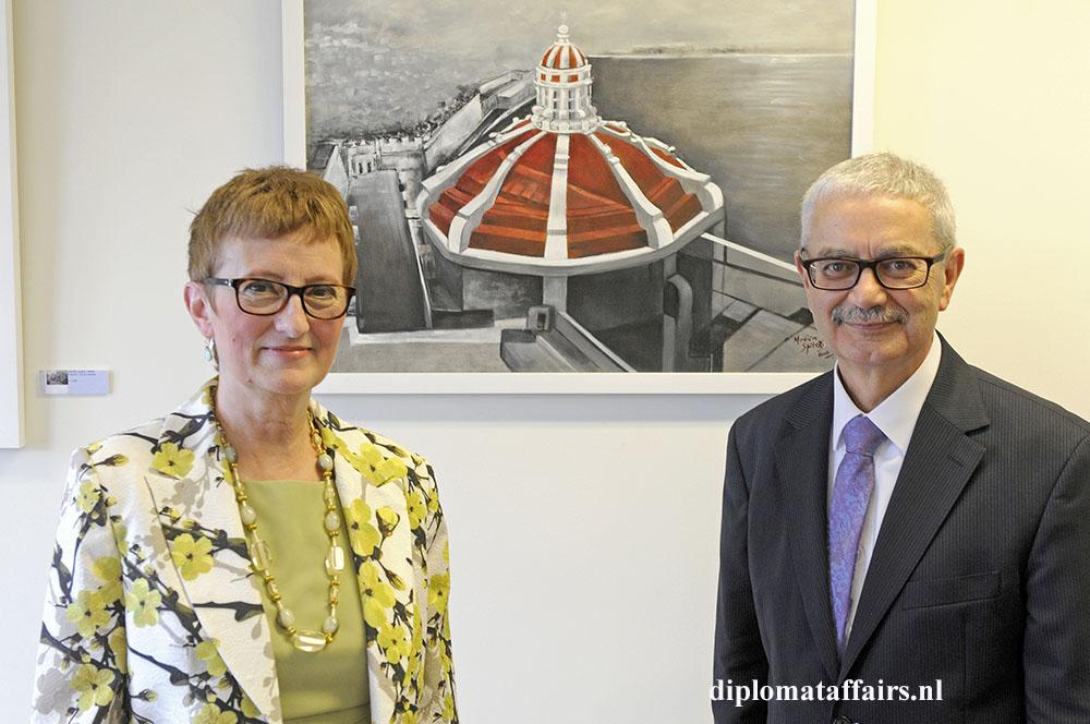 Mrs. Bernardette Cole and Ambassador of Malta Joseph Cole 'Friends in Art'