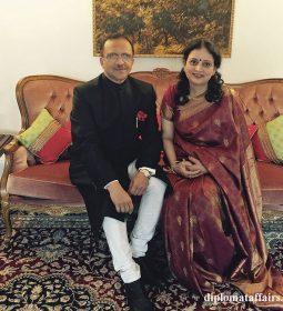 Ambassador of India H.E. Mr. J.S. Mukul and Mrs. Mukul