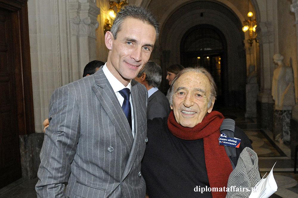 88.jpg H.E. Pilippe Lalliot Ambassador of France - Miquel Angel Estrella - Peace Palace
