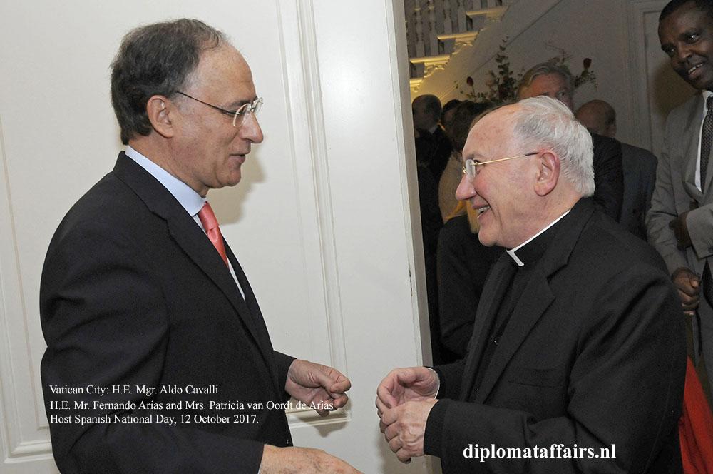 07 Ambassador Fernando Arias H.E. Mgr. Aldo Cavalli