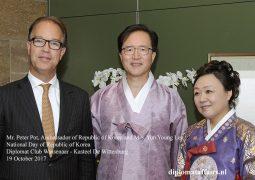 H.E. Mr. Yun Young Lee honours Dutch Veterans at Korean National Day at Diplomat Club Wassenaar