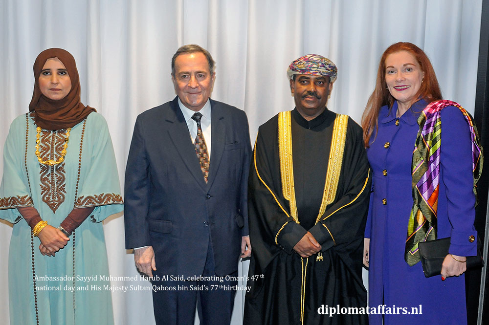 3. diplomataffairs.nl Ambassador Sayyid Muhammed Harub Al Said - Oman's 47th National Day
