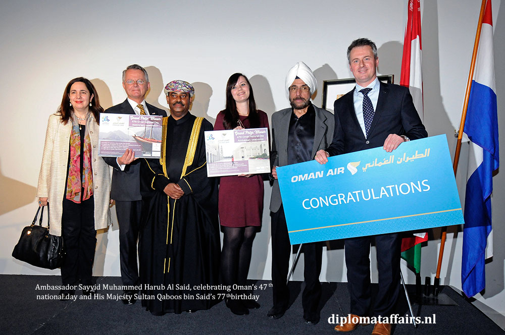 4. diplomataffairs.nl Ambassador Sayyid Muhammed Harub Al Said - Oman's 47th National Day