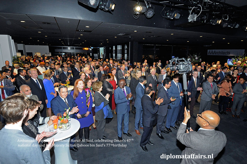 5. diplomataffairs.nl Ambassador Sayyid Muhammed Harub Al Said - Oman's 47th National Day