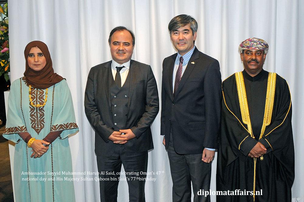 9. diplomataffairs.nl Ambassador Sayyid Muhammed Harub Al Said - Oman's 47th National Day
