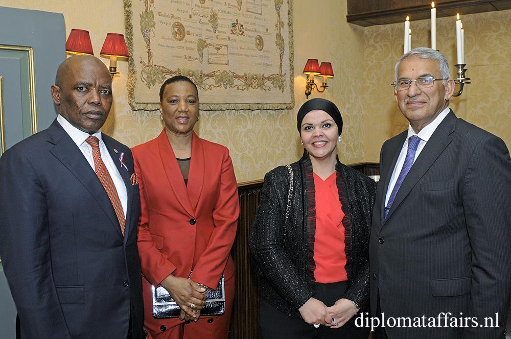 H.E. Mr Vusi Bruce Koloane, Mrs Ntokoza Koloane, Mrs. Besma Al-Fayadh, H.E. Dr Saad Ibrahim Al Ali