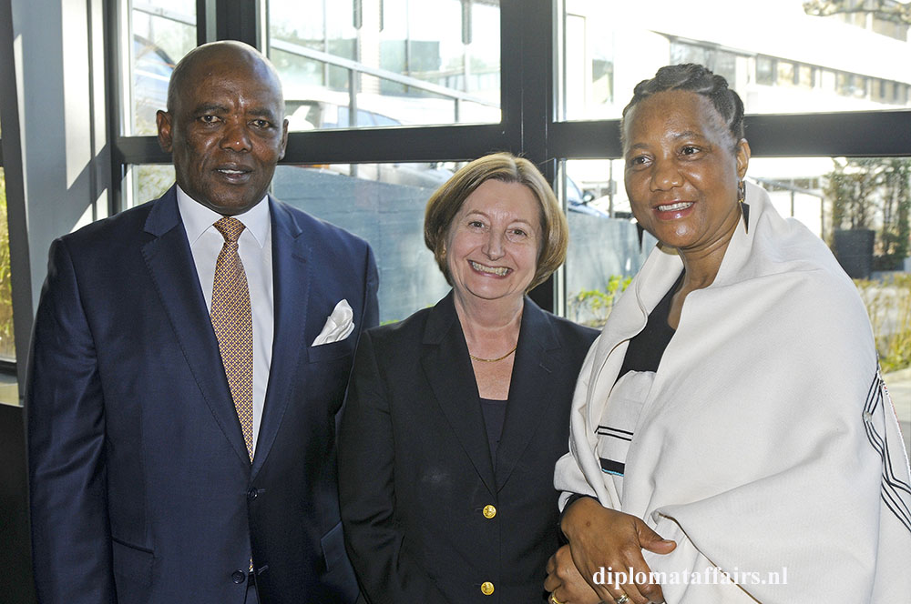 H.E. Vusi Koloane, H.E. Silvia Fernández de Gurmendi President of the International Criminal Court, Mrs. Ntokoza Koloane