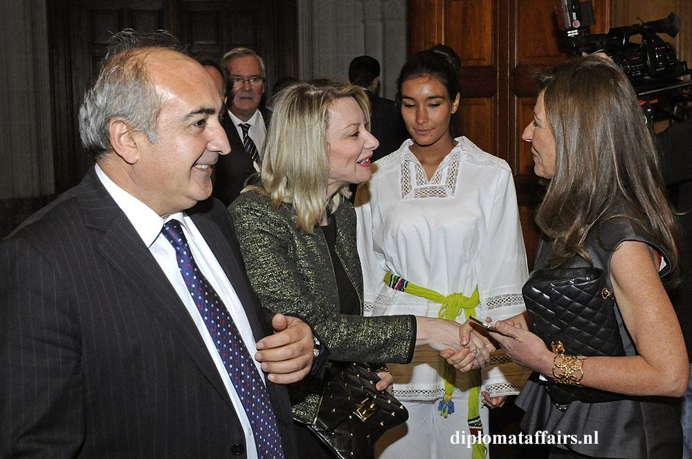 Ambassador of Turkey, H.E. Sadik Arslan, Mrs. Senem Arslan, Mrs. Rym Ben Becher