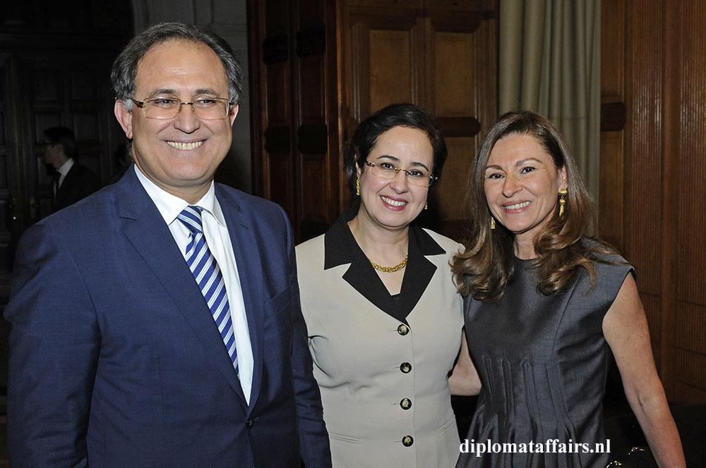 H.E. Mr Abdelouahab Bellouki, Mrs. Najat Bellouki, MRs. Rym Ben Becher