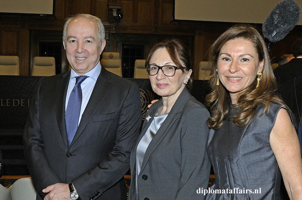 H.E. Mr Mir-Hamza Efendiyev, Prof Sevil Amirova Efendiyev, Mrs. Rym Ben Becher