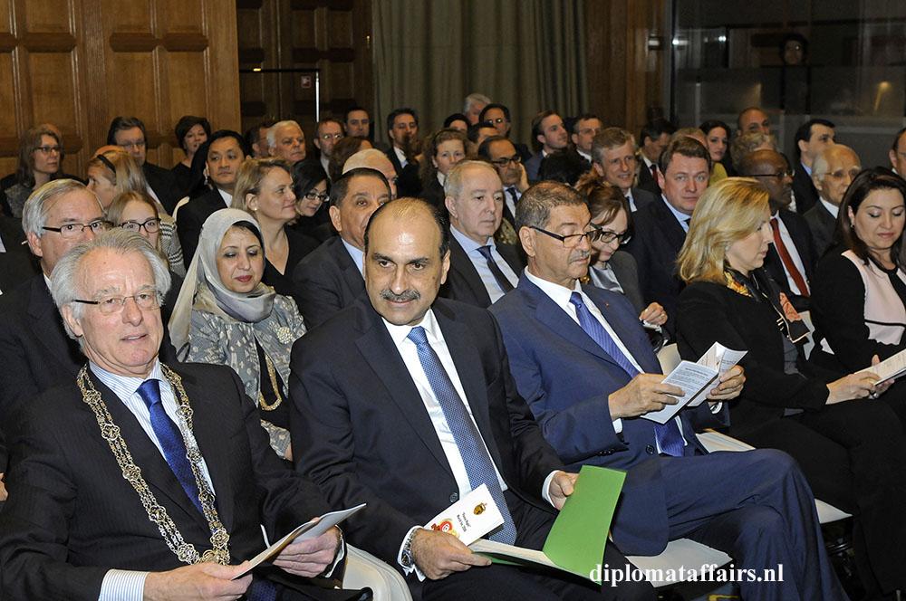 Mayor Jozias van Aartsen, H.E. Karim Ben Becher, Head of State H.E. Mr Habib Essid