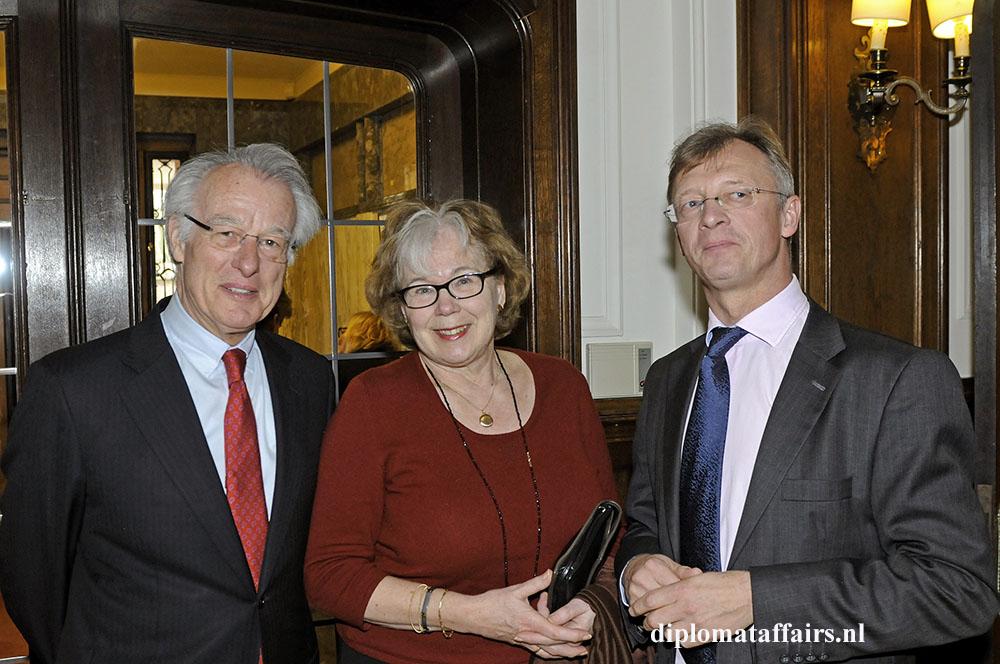 Mayor Jozias van Aartsen, Mrs. Henriette van Aartsen, H.E. Chris Hoornaert Ambassador of Belgium