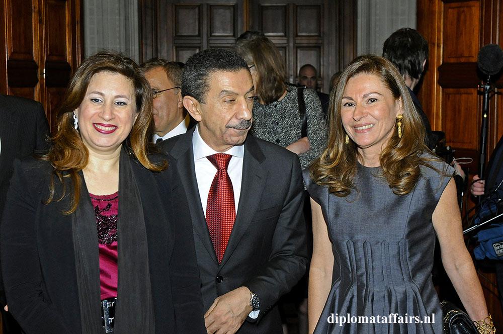 Mrs.Nadine Rushdy, H.E. Mr Taher Ahmed Hanafi Farahat, Mrs. Rym Ben Becher