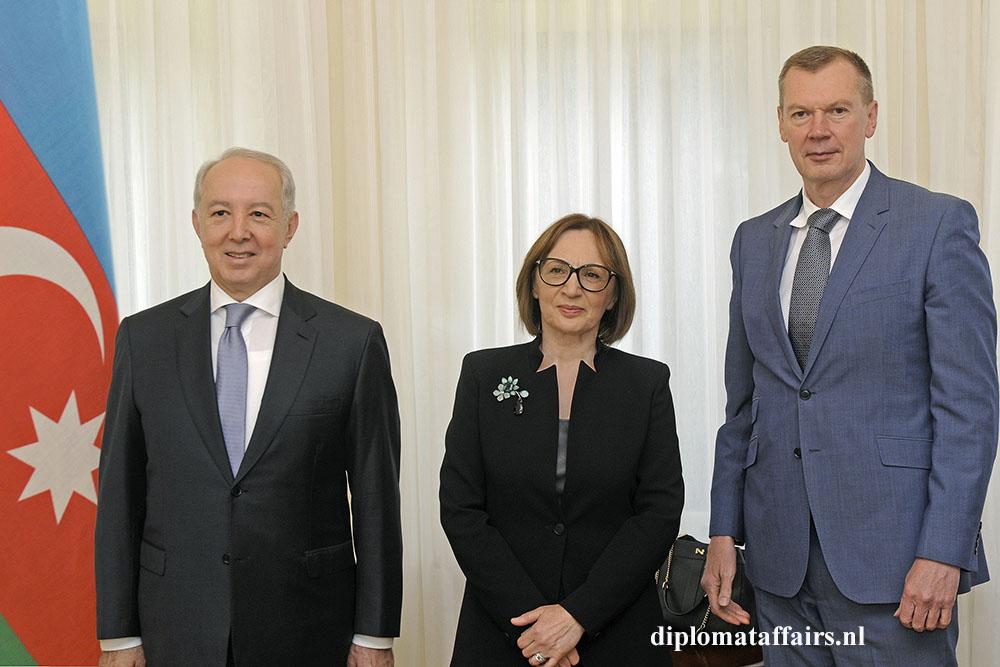 H.E. Mir Hamza Efendiyev, Prof. Sevil Amirova, H.E. Alexander Shulgin