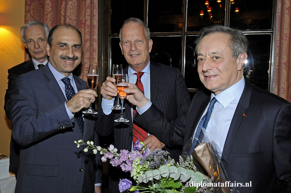 291.jpg H.E. Karim Ben Bécher , Mayor Jan Hoekema, H.E. Pierre Ménat Book launch Alumni Diplomat Club Wassenaar The Netherlands 16-03-2016