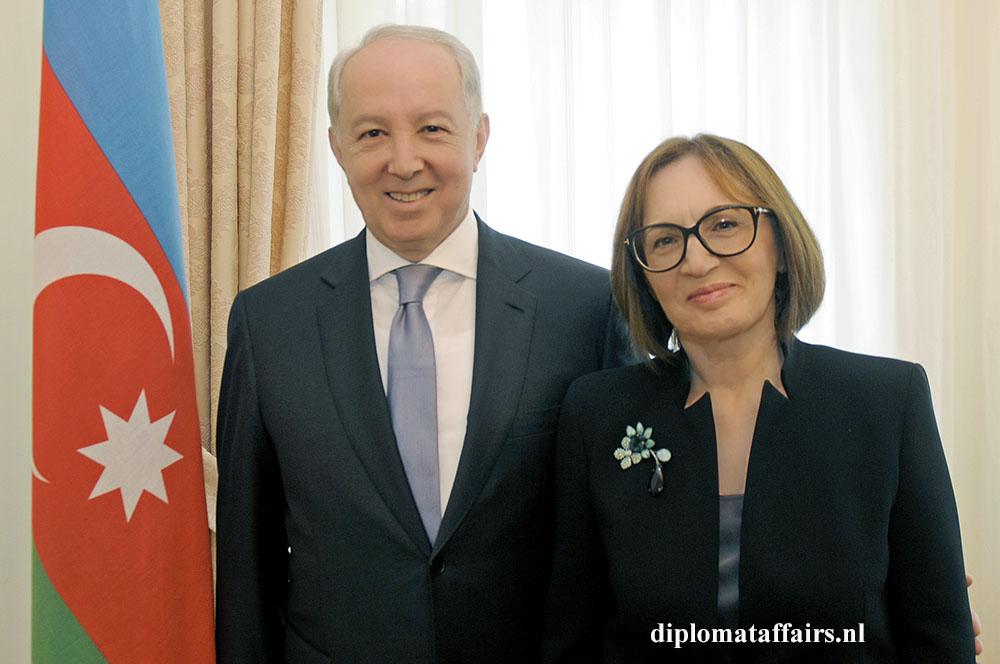 839.jpg Ambassador of Azerbaijan Mir-Hamza Efendivey and Prof. Sevil Amirova Efendiyev