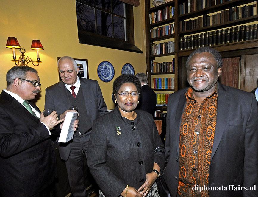 Ambassador of Tanzania, H.E. Irene F. Mkwawa Kasyanju & spouse - Book Launch H.E. Pierre Ménat - Diplomat Club Wassenaar The Netherlands 16 March