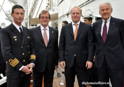 Strengthening of Argentinian – Dutch bilateral ties aboard Frigate A.R.A Libertad
