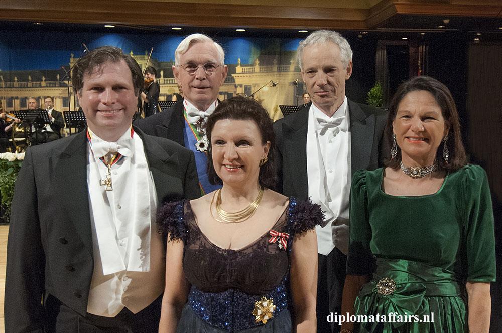 photo 6 SKKH Sandor Habsburg Lothringen Mr. Hans van Eenennaam, SKKHH Herta MargareteHabsburg Lothringen, H.E. Dr. Werner Druml Mrs. Pia van Eenennaam-Beck