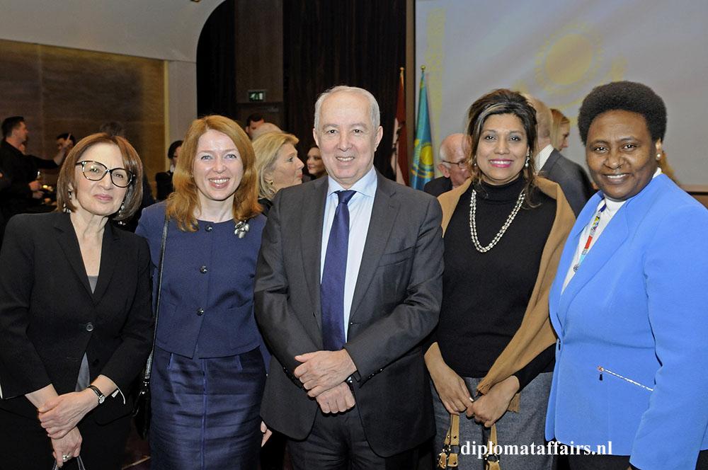10. mrs. Sevill Evendiyef, Mrs. Tatsiana Barysevich, H.E. Mir-Hamza Efendiyev, Mrs. Shida Bliek, H.E. Ms Rose Makena Muchiri