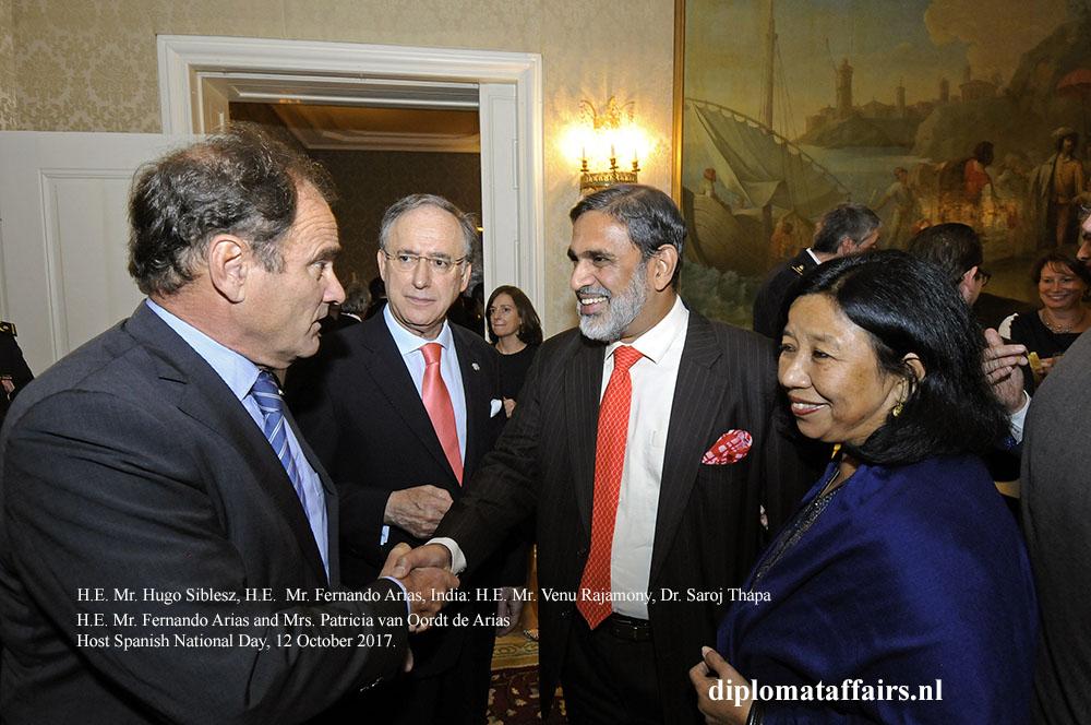 02 H.E. Hugo Siblesz, H.E. Fernando Arias, India H.E. Venu Rajamony, Dr. Saroj Thapa
