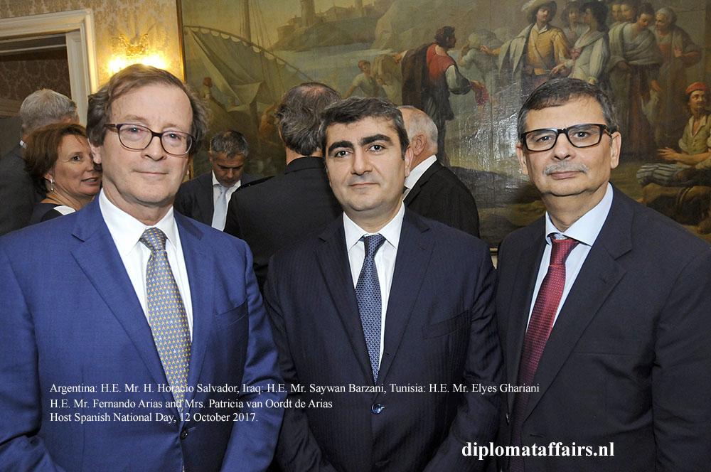 05 H.E. H. Horacio Salvador, H.E. Saywan Barzani, H.E. Elyes Ghariani