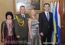 Ambassador Vsevolod Chentov hosts Ukrainian National Day at Diplomat Club Wassenaar