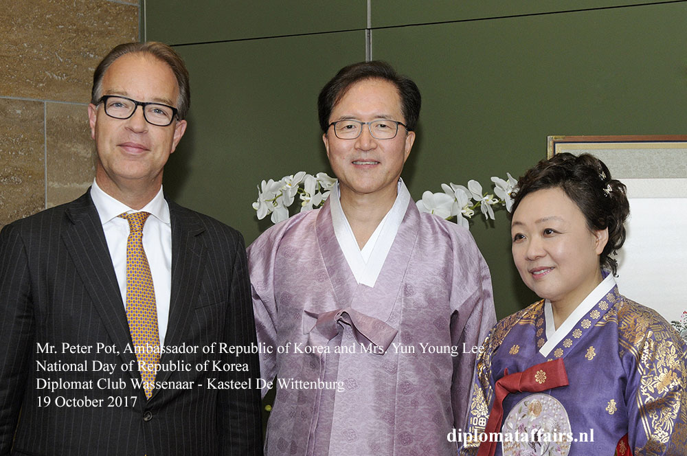 1 Mr. Peter Pot, Ambassador of Republic of Korea and Mr. Yun Young Lee