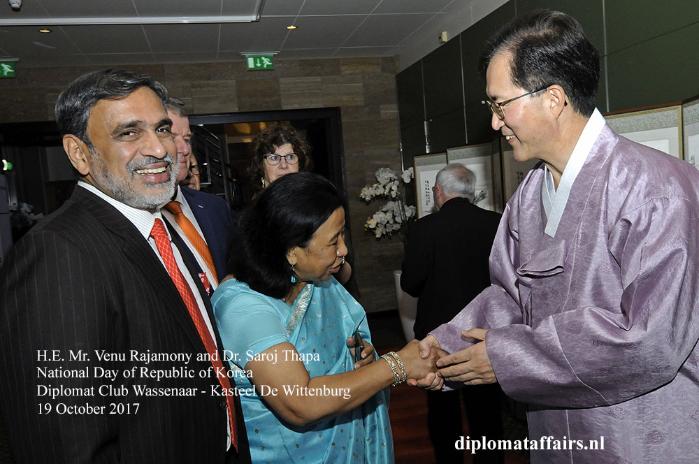 3 H.E. Mr. Venu Rajamony, Dr. Saroj Thapa, H.E. Mr. Yun Young Lee