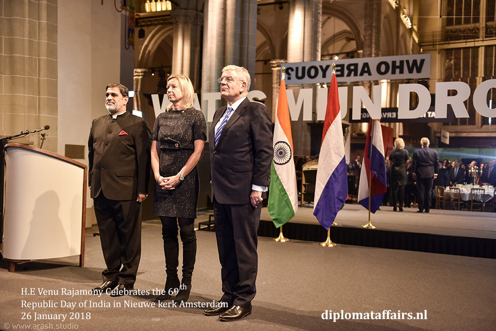02.jpg H.E Venu Rajamony, H.E. Ms Kajsa Ollongren, Mayor Jan van Zanen