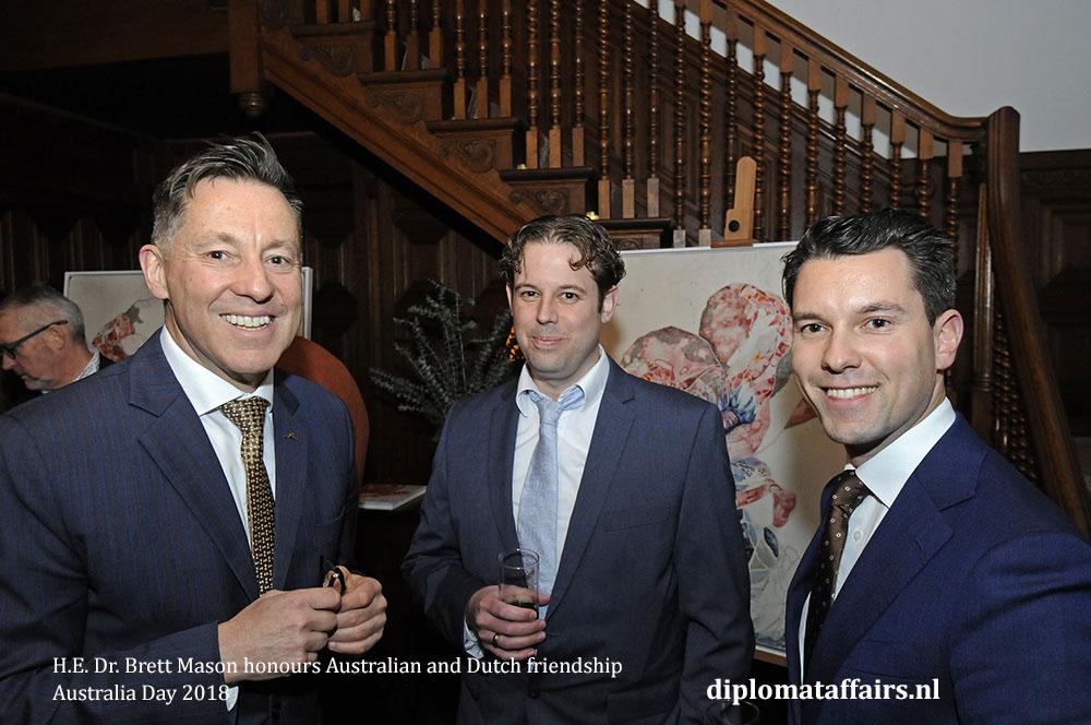H.E. Dr. Brett Mason honours Australian and Dutch friendship 01-02-2018