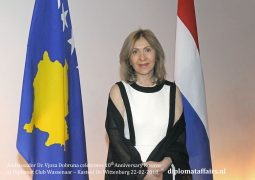 Ambassador Dr. Vjosa Dobruna celebrates 10th Anniversary Kosovo at Diplomat Club Wassenaar