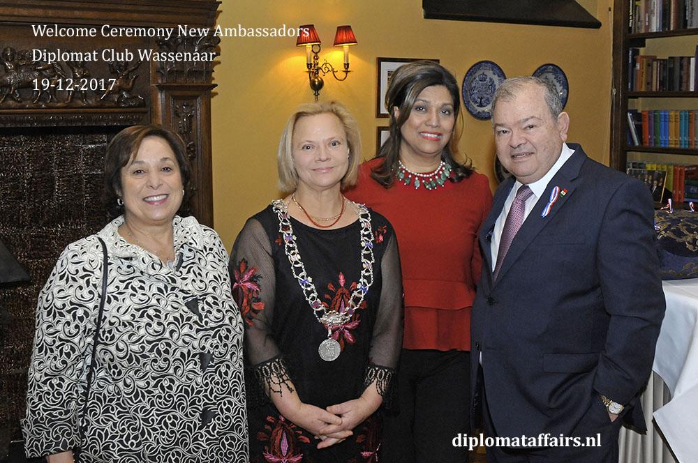 13. Mrs. Patricia Atala, Mrs. Inge Zweerts de Jong, Shida Bliek, H.E. Edgar Elías Azar