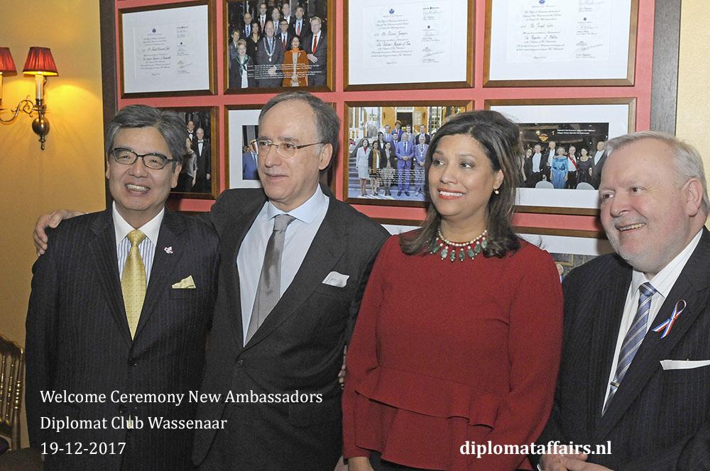 16. H.E. Hiroshi Inomata, H.E. Fernando Arias, Mrs. Shida Bliek, H.E. Jean-Marc Hoscheit
