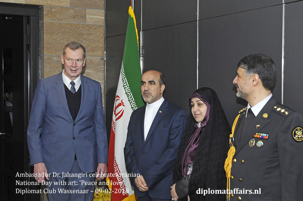 2 A. H.E. Alexander Shulgin, H.E. Dr. Alireza Jahnagiri National Day Iran the Netherlands