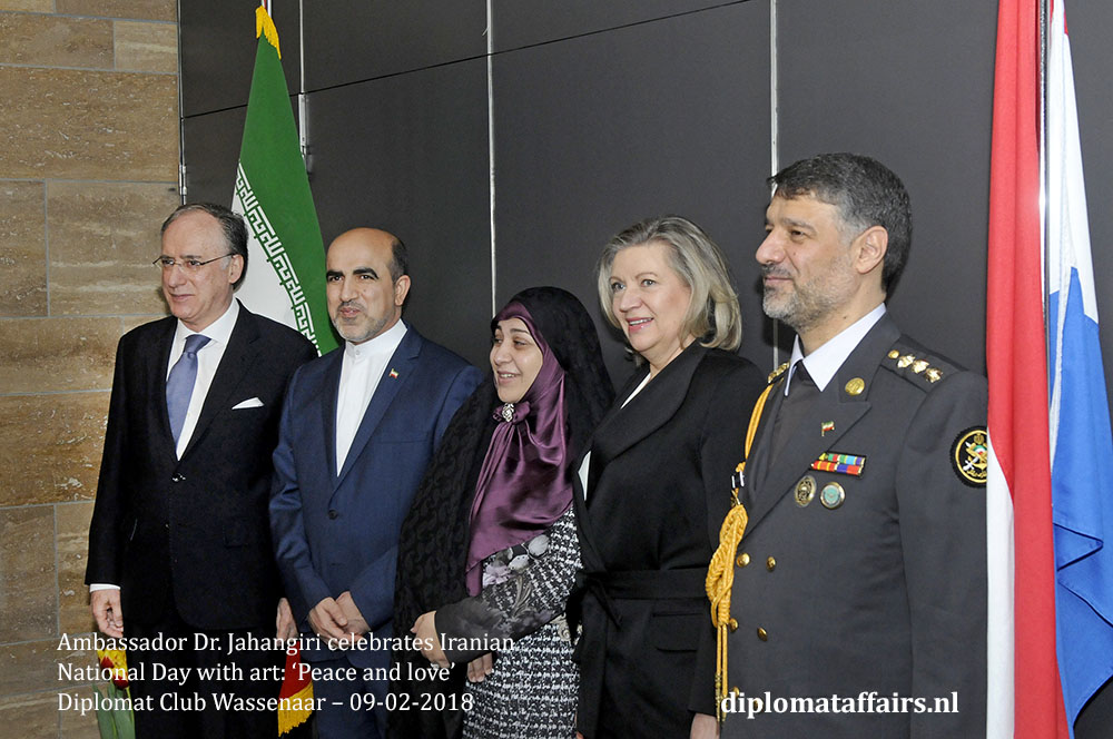 2. H.E. Dr. Alireza Jahangiri, H.E. Fernando Arias National Day Iran the Netherlands