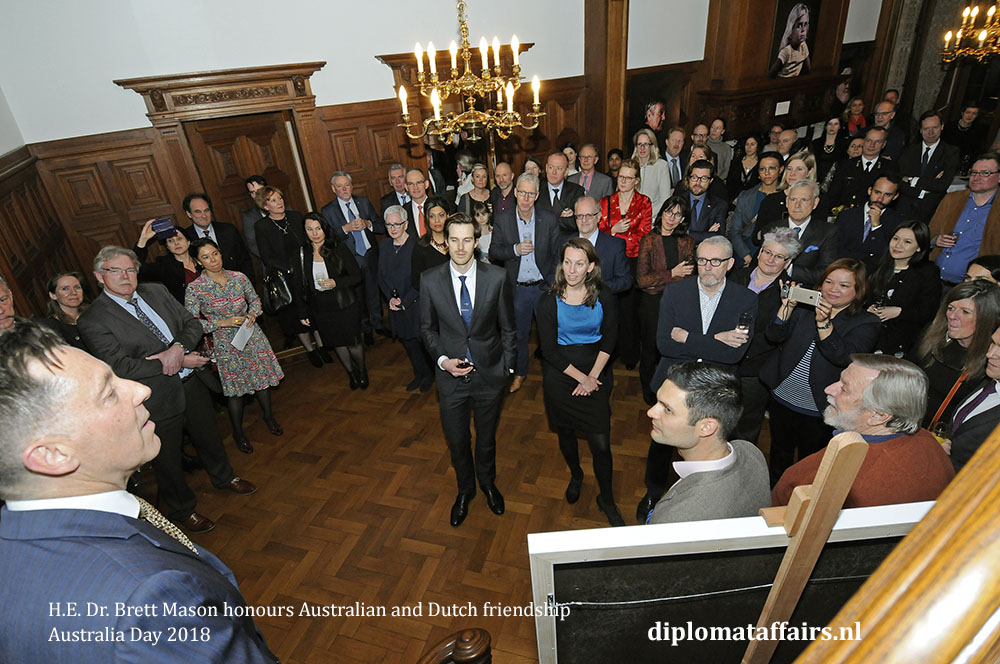 2. H.E. Dr. Brett Mason honours Australian and Dutch friendship 01-02-2018