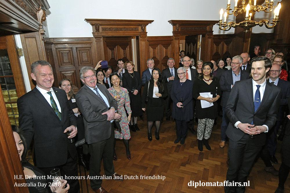 3. H.E. Dr. Brett Mason honours Australian and Dutch friendship 01-02-2018