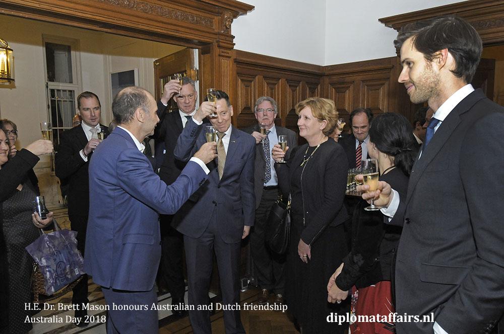 4. H.E. Dr. Brett Mason honours Australian and Dutch friendship 01-02-2018