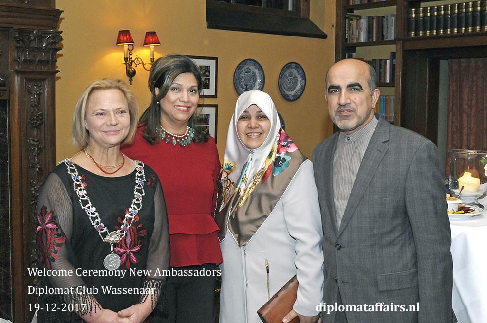 7. Deputy Mayor of Wassenaar Mrs. Inge Zweerts de Jong H.E. Prof. Dr. Alireza Jahangiri and Mrs. Jahangiri
