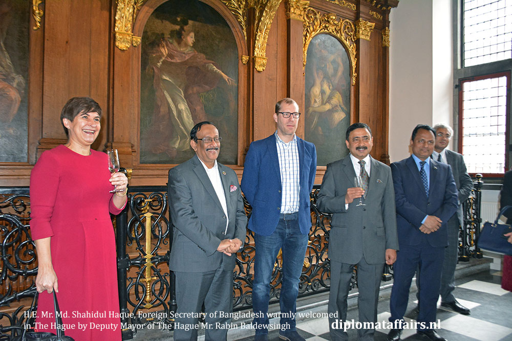 H.E. Mr. Md. Shahidul Haque, Foreign Secretary of Bangladesh warmly welcomed in The Hague