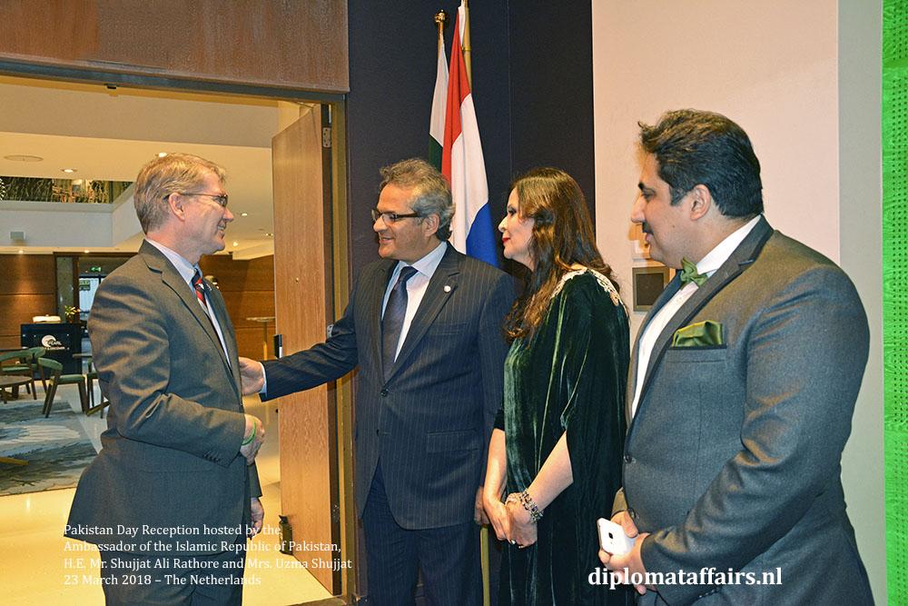 4. Mr. Shawn Patrick Crowley Embassy (USA), H.E. Mr. Shujjat Ali Rathore, Mrs. Uzma Shujjat